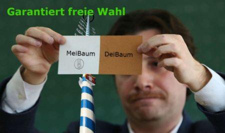 Freie Wahl zum MeiBaum 2017, entgegen der unfreien manipulierten Wahl in der Türkei