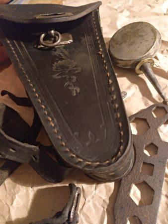 Fahrrad Satteltasche aus Leder