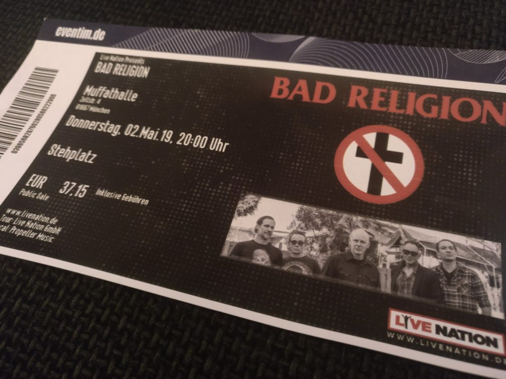 Bad Religion Ticket